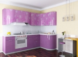 "Кухня ""Фиолетовая Флора"""