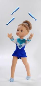 Кукла Гимнастка в голубом,32 см.
